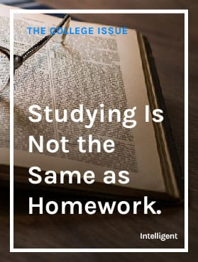 First, Understand that Studying is Not the Same as Doing Homework