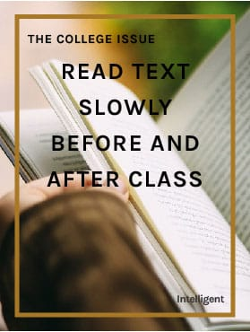 Read Text Slowly Before and After Class