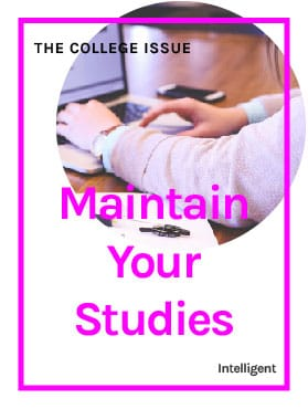 Maintain Your Studies